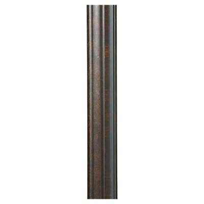 7 ft. Walnut Fluted Outdoor Lamp Post