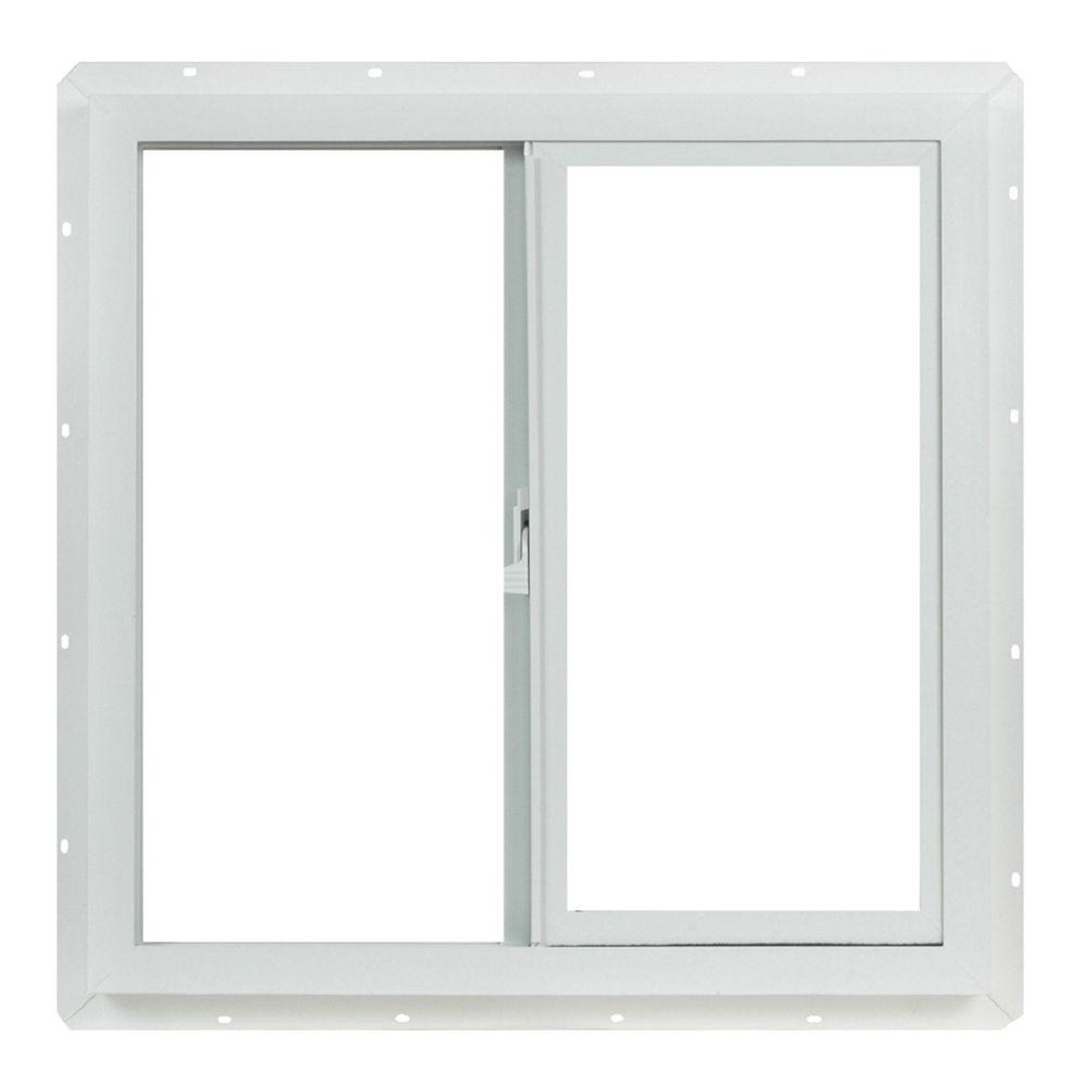 23.5 in. x 23.5 in. Utility Left-Hand Single Sliding Vinyl Window