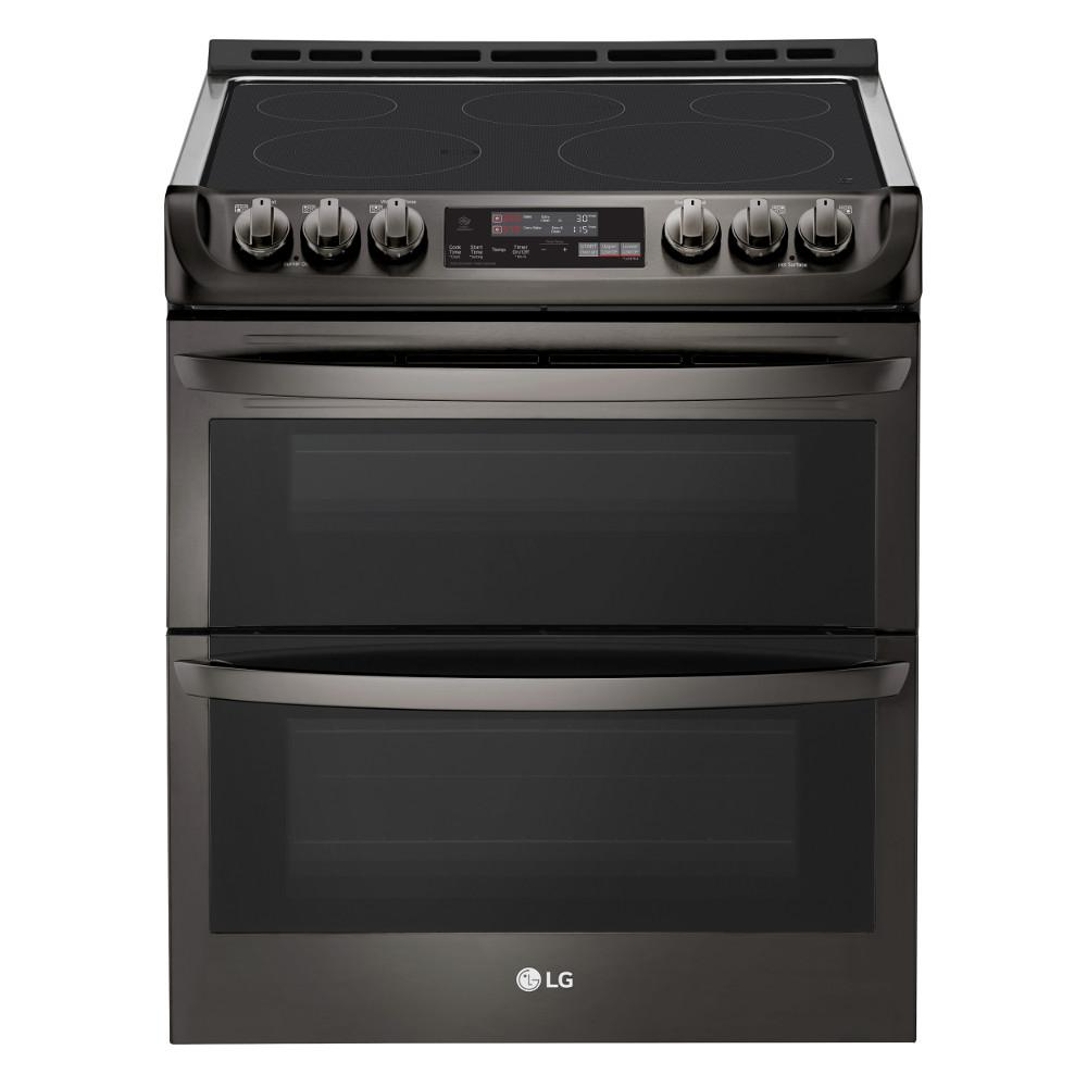 LG Electronics 7.3 cu. ft. Smart Double Oven Electric Range, Self-Cleaning, Convection and Wi-Fi Enabled in Black Stainless Steel was $2599.0 now $1618.2 (38.0% off)