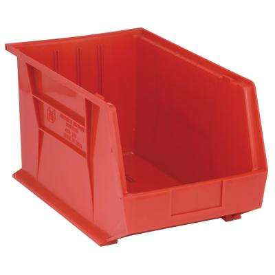 Ultra Series Stack and Hang 8.9 Gal. Storage Bin in Red (4-Pack)