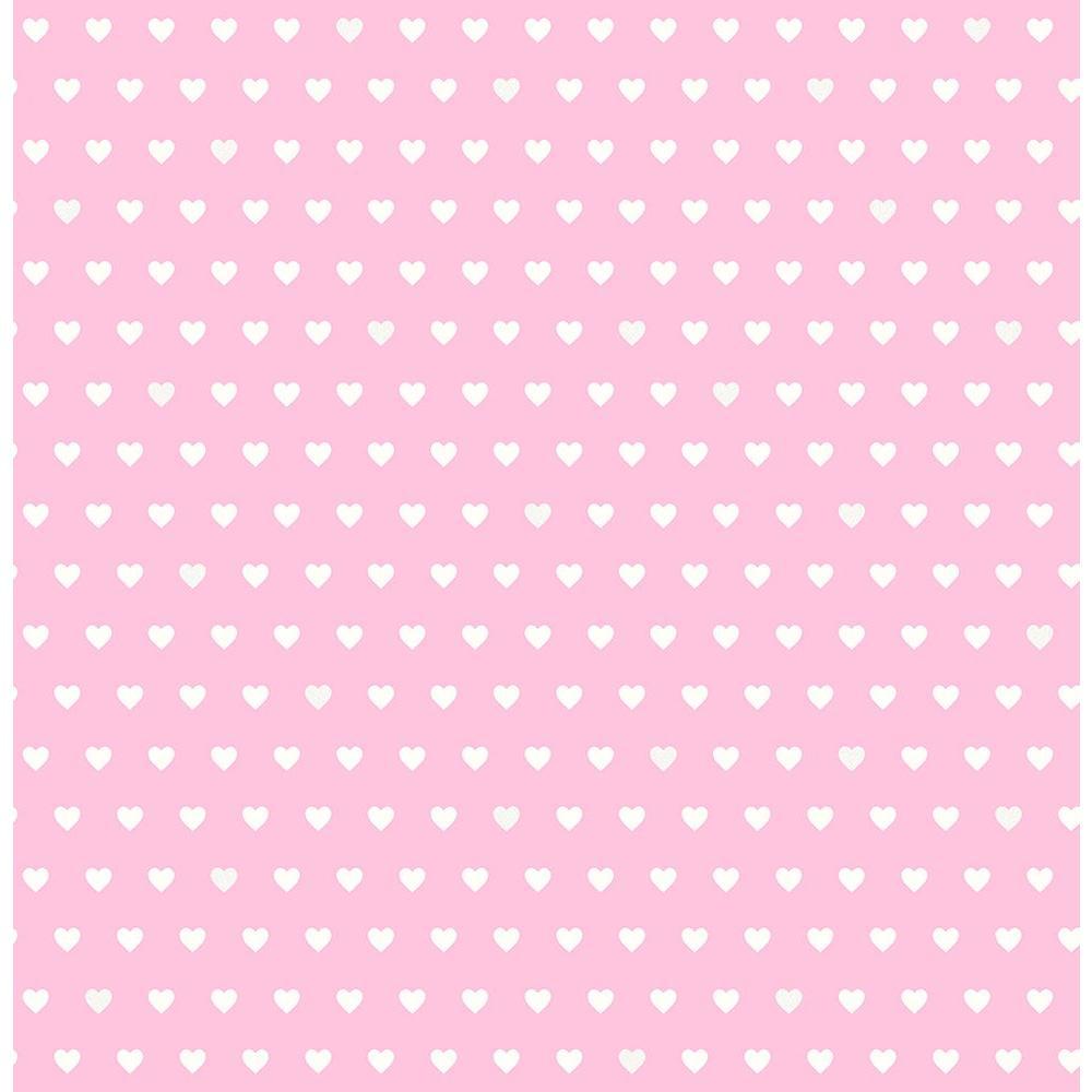Brewster Pink Small Hearts Wallpaper