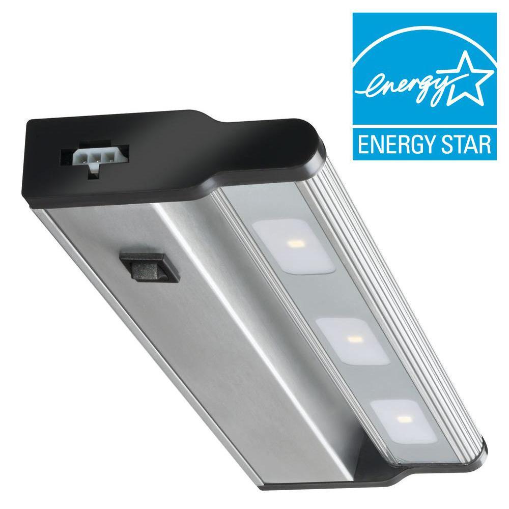 Lithonia Lighting 12 in. LED Brushed Nickel Under Cabinet Light ...