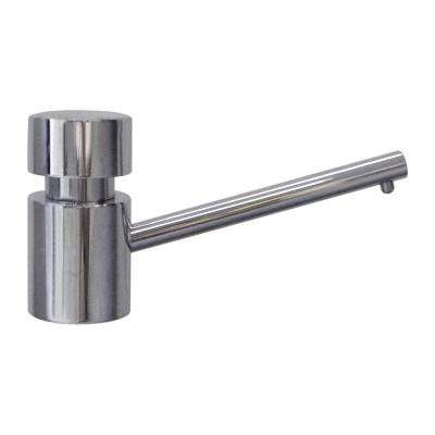 3 in. Solid Brass Utility Soap Dispenser in Chrome