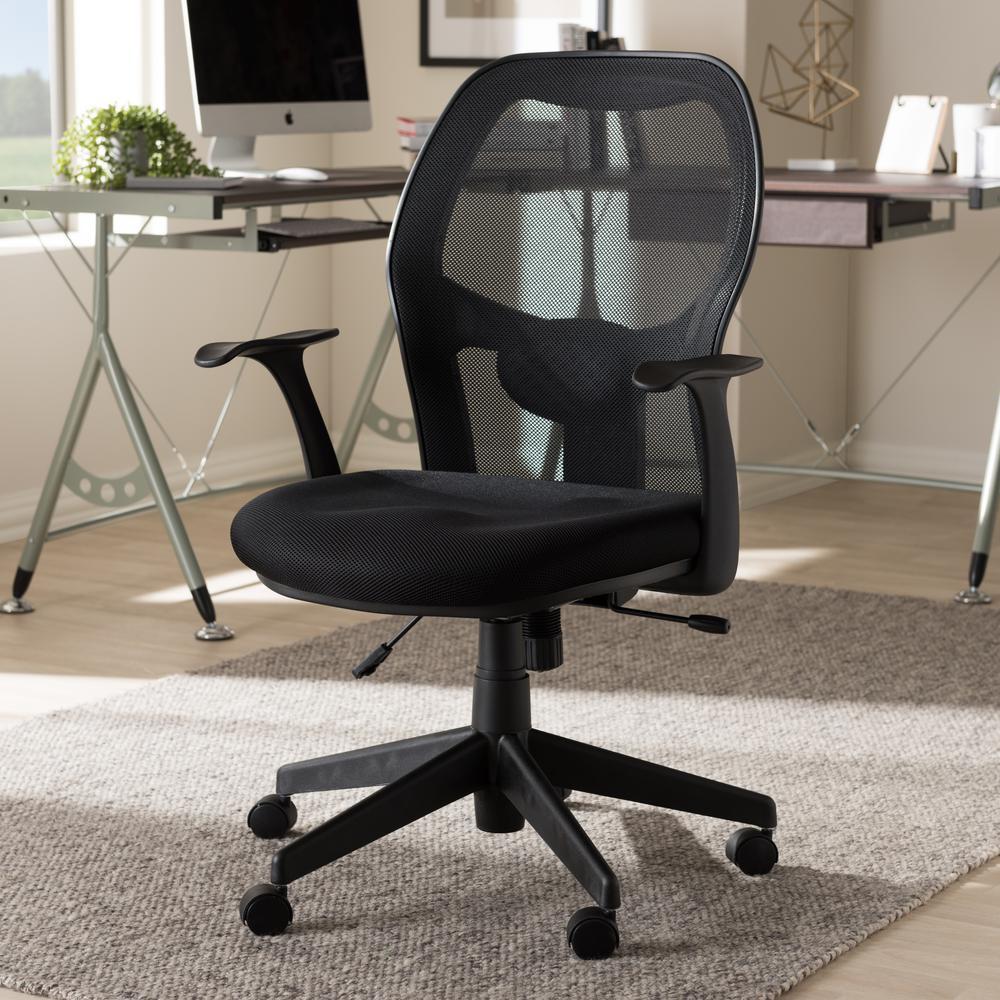Baxton Studio Kurber Black Office Chair
