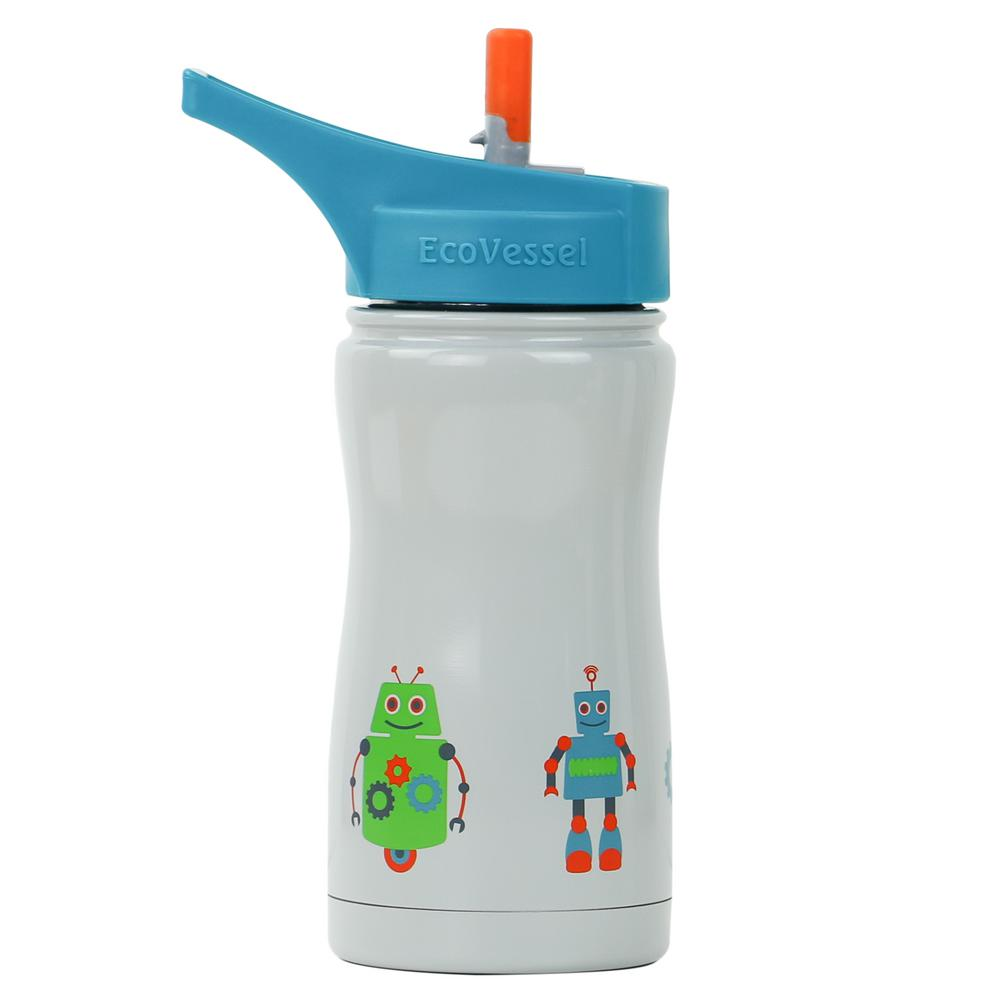 13 oz. Frost Kids Insulated Bottle with Straw Top - Blue