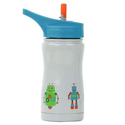 13 oz. Frost Kids Insulated Bottle with Straw Top - Blue with Robot