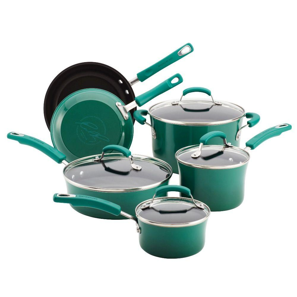 Rachael Ray Porcelain II 10-Piece Set in Fennel