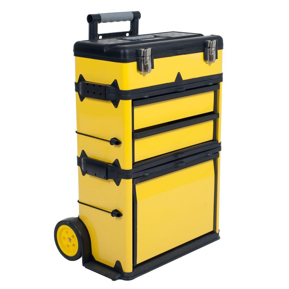 Rolling Stacking Portable Metal Trolley Tool Box 75 MJ2096   The Home Depot
