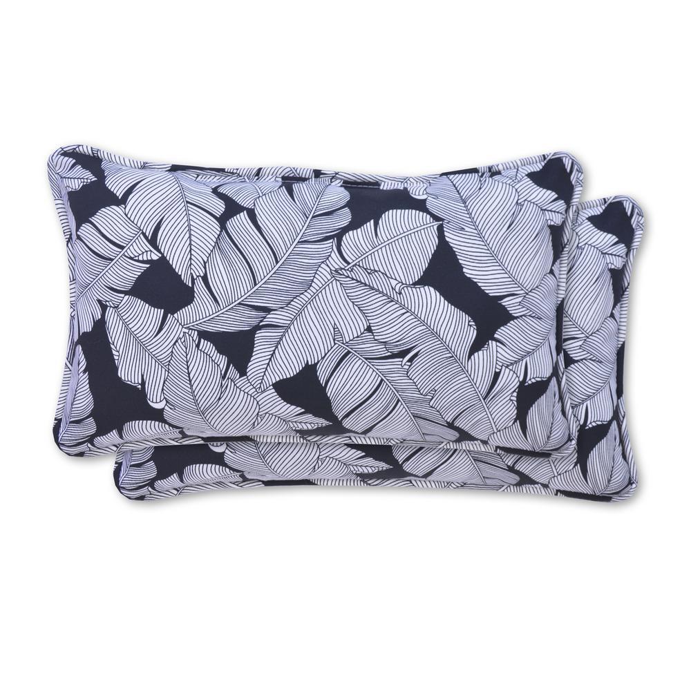 Carano Shadow Rectangle Lumbar Outdoor Throw Pillow (2-Pack)