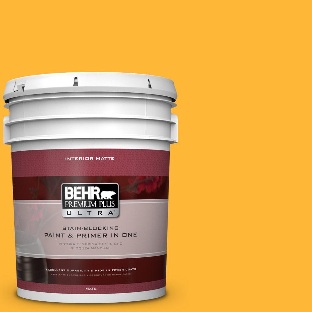 BEHR Premium Plus Ultra 5 gal. #P270-6 Soft Boiled Matte Interior Paint