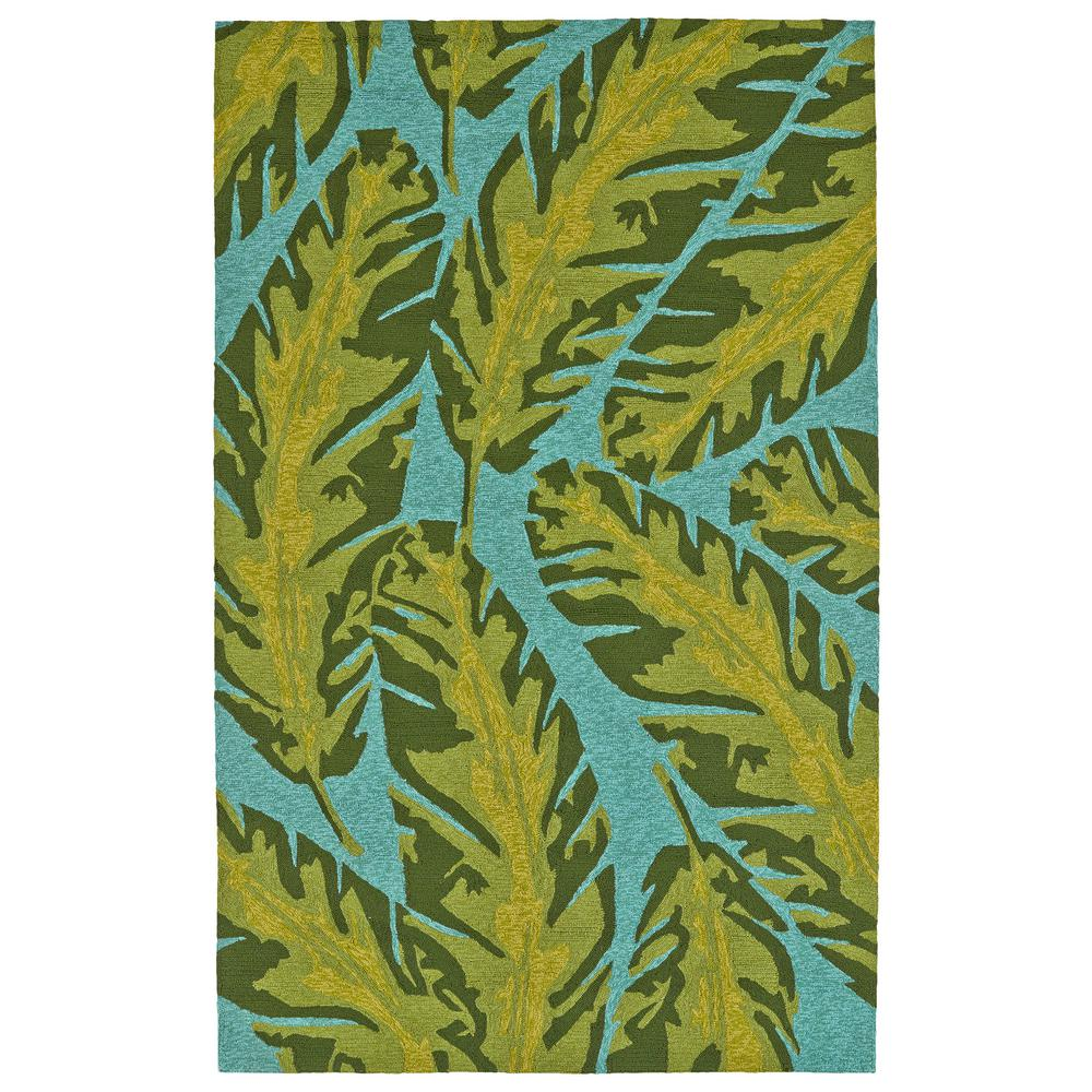 Yunque Blue 8 ft. x 10 ft. Indoor/Outdoor Area Rug