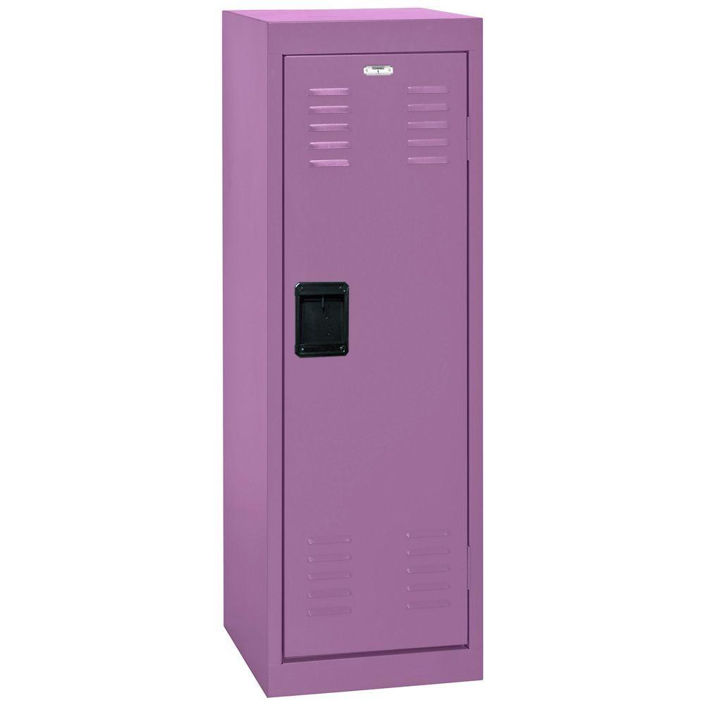 48 in. H x 15 in. W x 15 in. D 1-Tier Steel Locker in Grape Juice