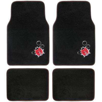 Lady Bug MT-513 Design 4 Pieces Carpet Car Floor Mats