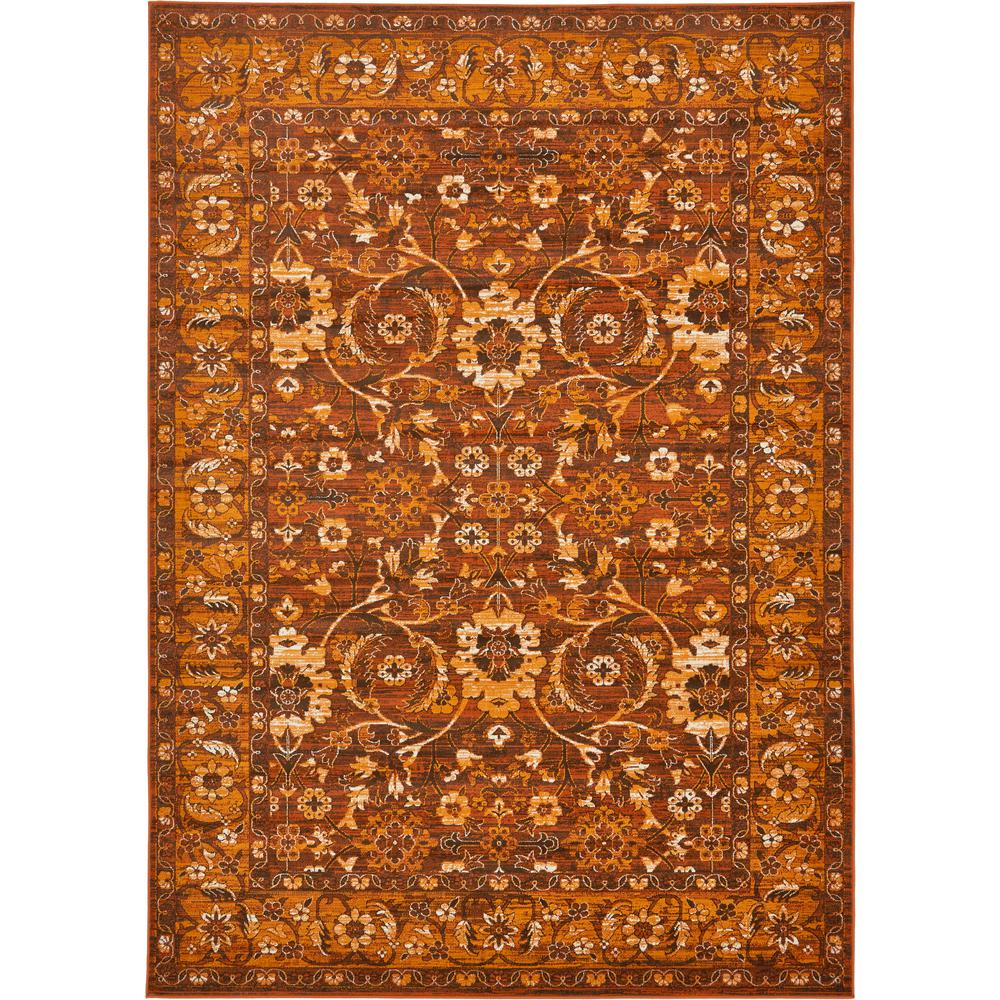 Unique Loom Istanbul Chocolate Brown 7 Ft X 10 Ft Area Rug 3134836 The Home Depot