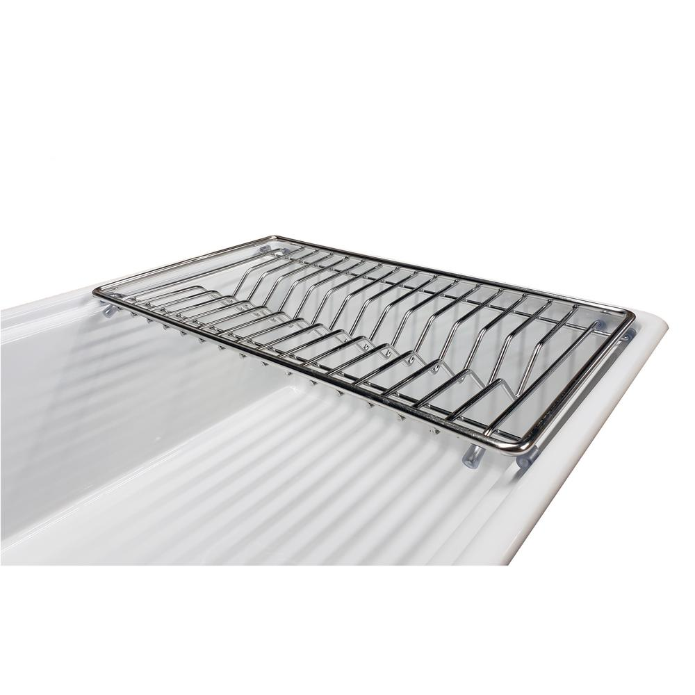 Tosca 18 in. x 10-3/4 in. Stainless Steel Dish Rack for Tosca Farmhouse Sinks