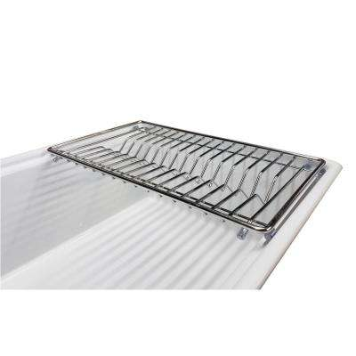 18 in. x 10-3/4 in. Stainless Steel Dish Rack for Tosca Farmhouse Sinks