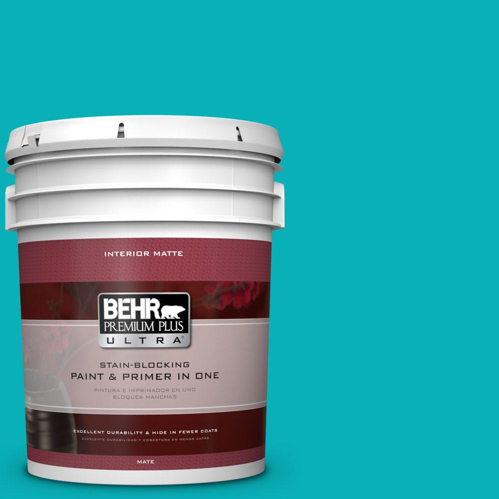 5 gal. #500B-5 Mermaid Treasure Flat/Matte Interior Paint