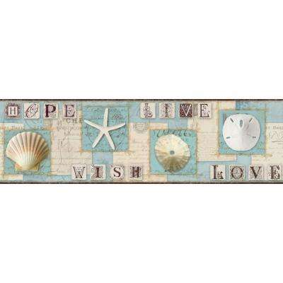 Inspired By Color Beach Journal Wallpaper Border