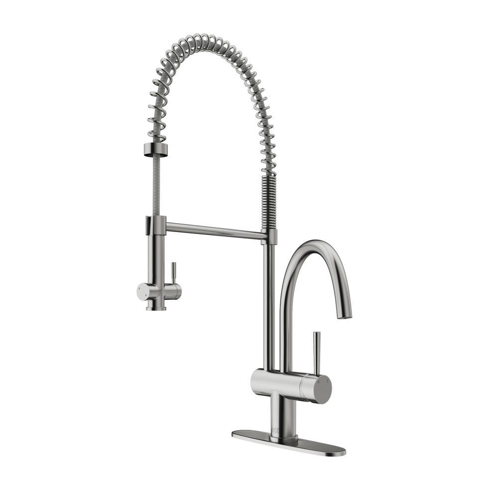 Vigo Single Handle Pull Down Sprayer Kitchen Faucet With