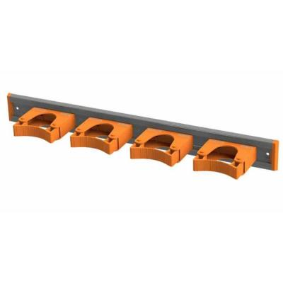 20 in. Orange Garage Garden and Sports Tool Organizer with 4 Wall Mounted Adjustable Tool Holders