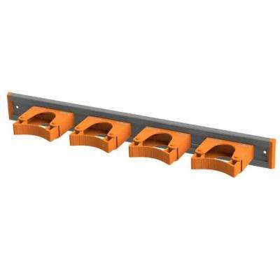 Aluminum Rail 50 cm (20 in.) with 4 Mounted Tool Holders, Orange