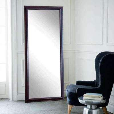 Nightfall Rectangle Burgundy Floor Mirror