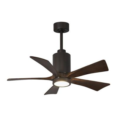 Patricia 42 in. LED Indoor/Outdoor Damp Matte Black Ceiling Fan with Remote Control and Wall Control