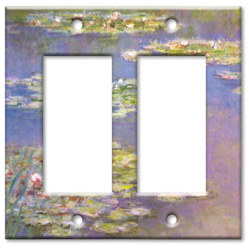 Art Plates Monet Water Lilies Oversize 2 Rocker Wall Plate