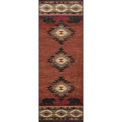 Nature Red 2 ft. 7 in. x 7 ft. 3 in. Runner