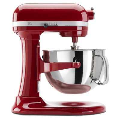 Professional 600 Series 6 Qt. 10-Speed Empire Red Stand Mixer with Flat Beater, Wire Whip and Dough Hook Attachments