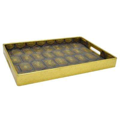 2 in. Tray with Gold Trim