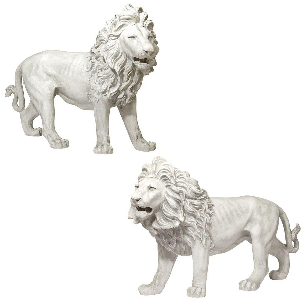 Design Toscano Regal Lion Sentinels Of Grisham Manor Right And Left Statue Set 2 Piece Ky9167 The Home Depot