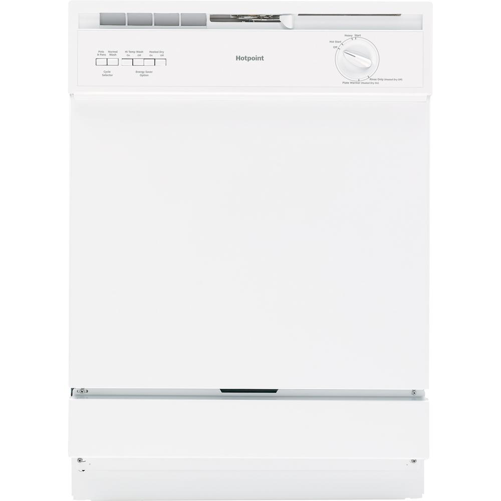 Hotpoint Front Control Dishwasher in White, 62 dBA