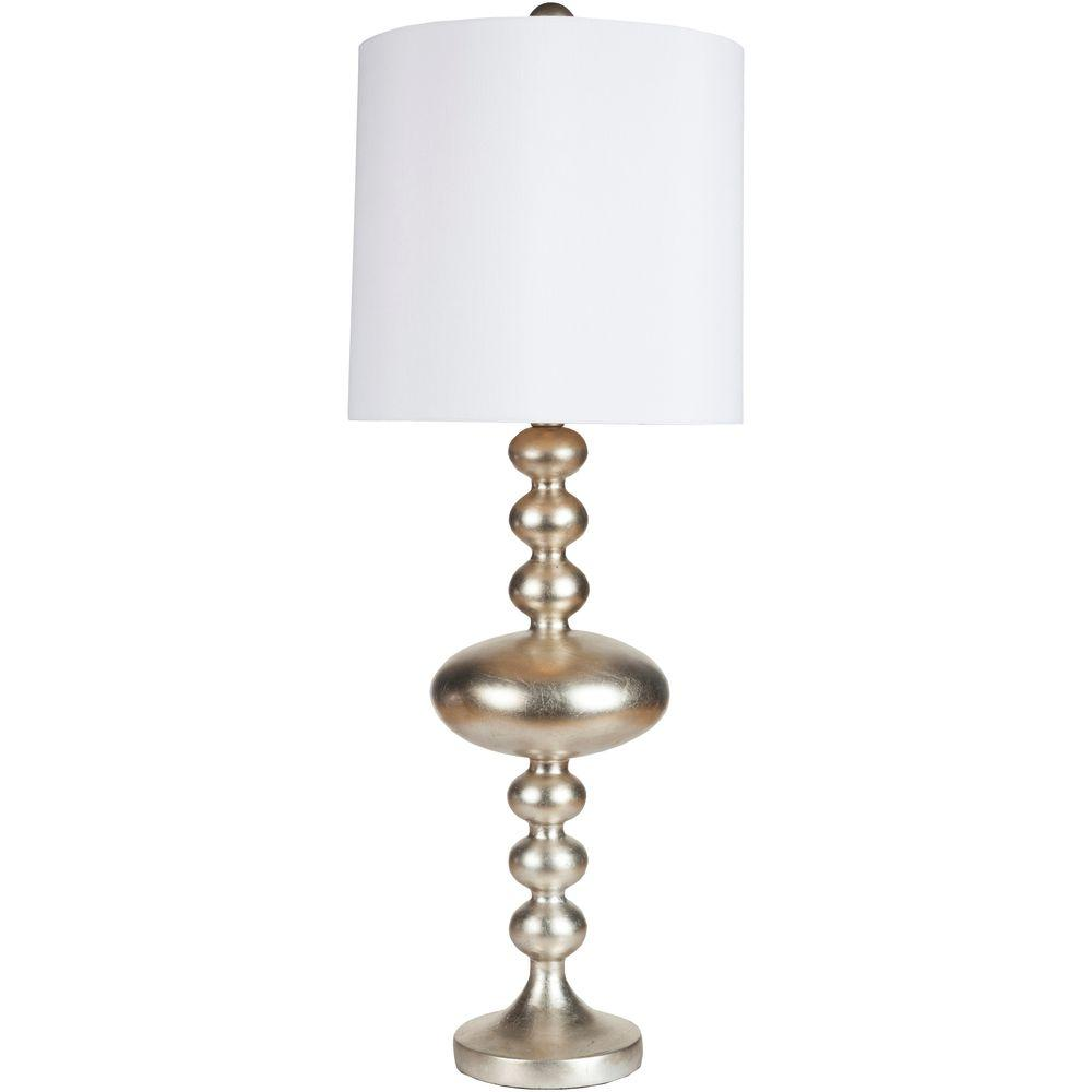 Langley 35 in. Silvertone Leaf Indoor Table Lamp