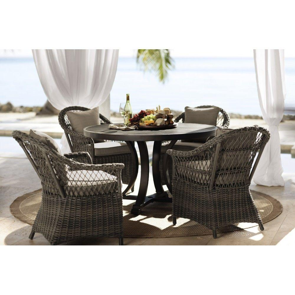 Home Decorators Collection Outdoor Martingale Marrone Grey 5-Piece Patio Dining Set