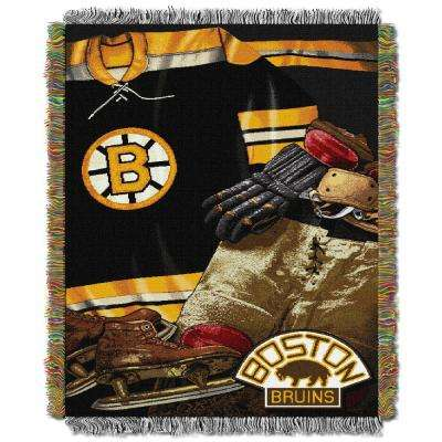Bruins Multi Color Vintage Tapestry Throw