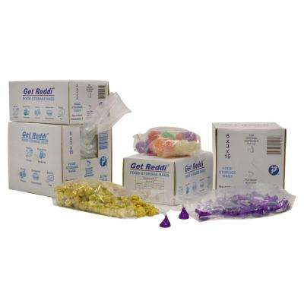 Get Reddi Food and Poly Bag, Clear, 2 qt., 6 in.x 3 in. x 12 in., 0.68 Mil, 1000 Per Case