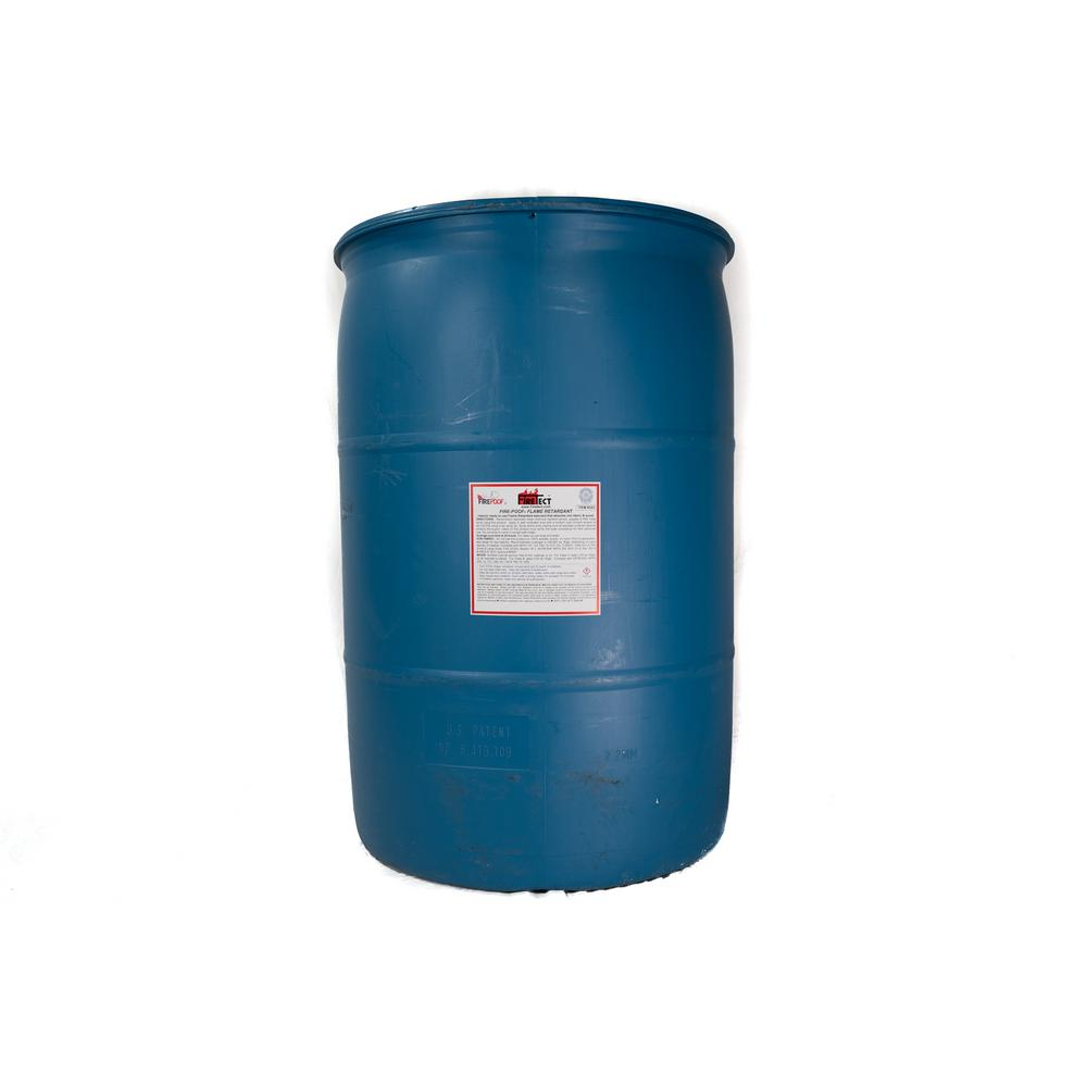 Firetect Fire-Poof 55 gal. Clear Interior Fireproofing Flame Retardant Liquid Spray for Fabric and Raw Wood