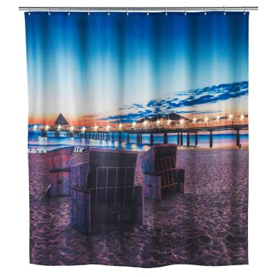79 in. LED Shower Curtain Usedom