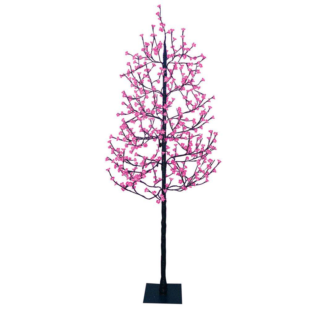 Sterling 7.5 ft. LED Blossom Artificial Christmas Tree with Pink Lights