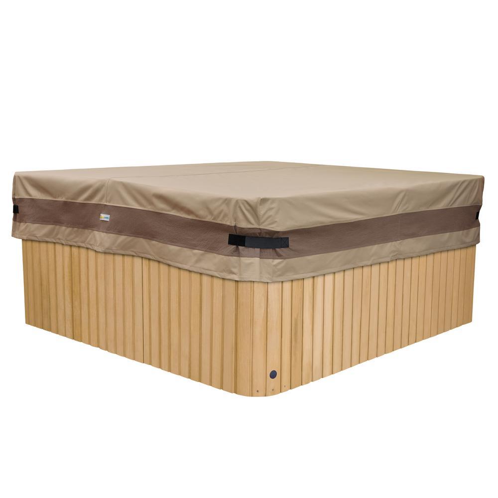 Elegant 88 in. L x 88 in. W x 14 in. H Square Hot Tub Cover Cap