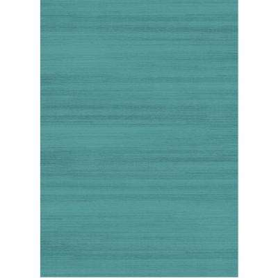 Washable Solid Textured Ocean Blue 5 Ft X 7 Area Rug