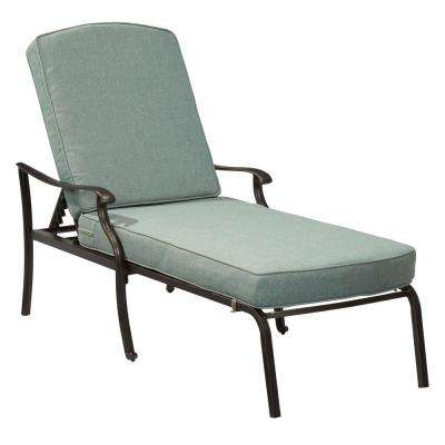 Belcourt Metal Outdoor Chaise Lounge With Spa Cushions