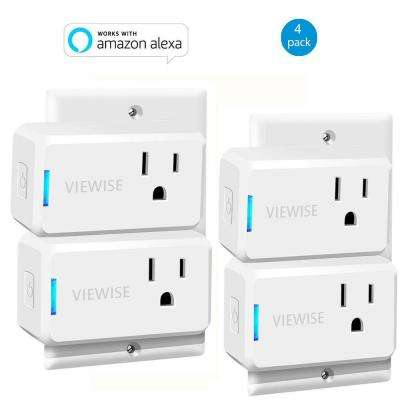 Wi-Fi Mini Smart Plug Works with Alexa for Voice Control Save Energy and Reduce Electric Bill (4-Pack)
