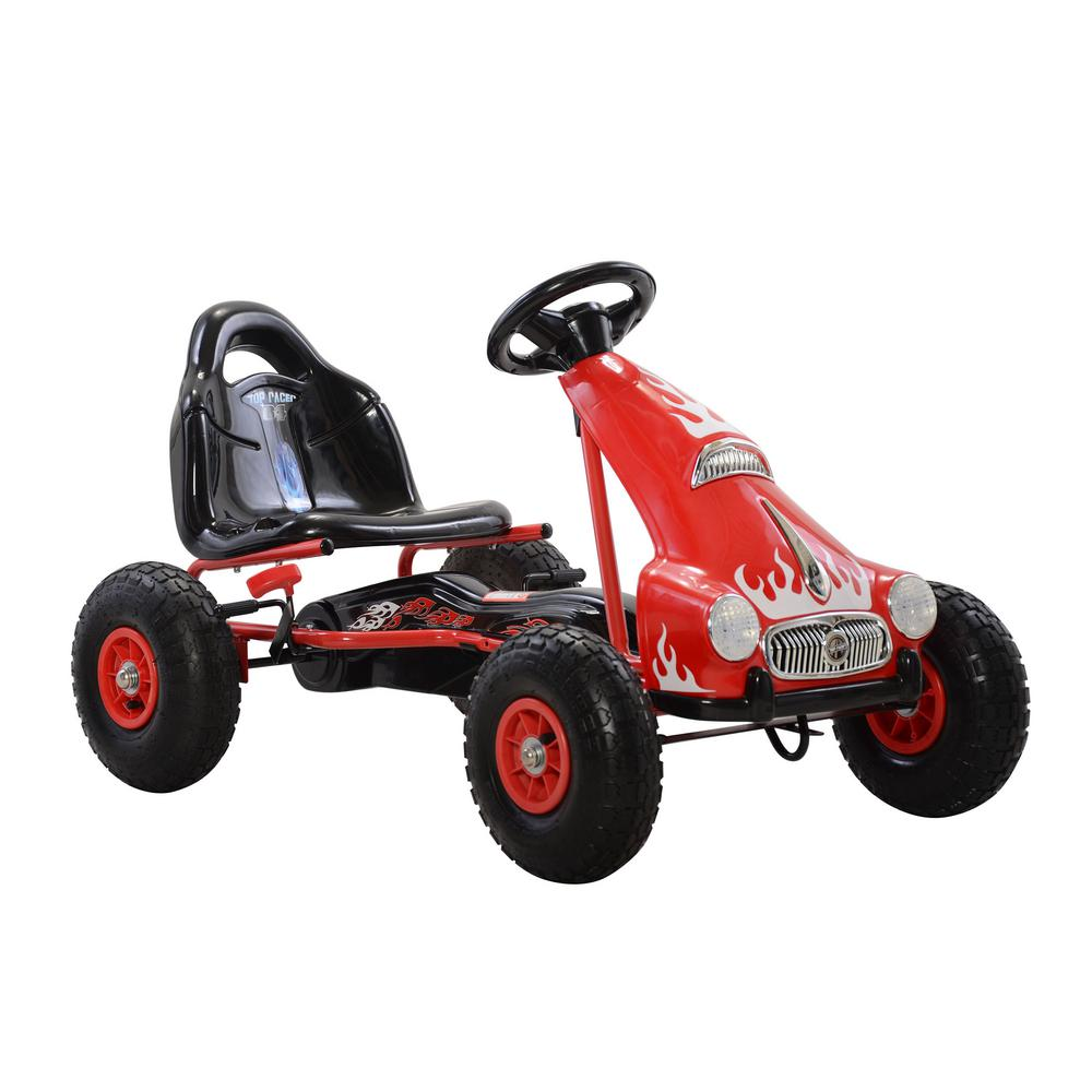 Cycle Force Top Racer Pedal Car in Red, Reds/Pinks