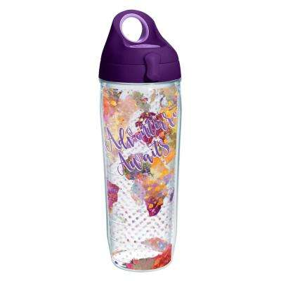 Adventure Awaits 24 oz. Double Walled Insulated Water Bottle