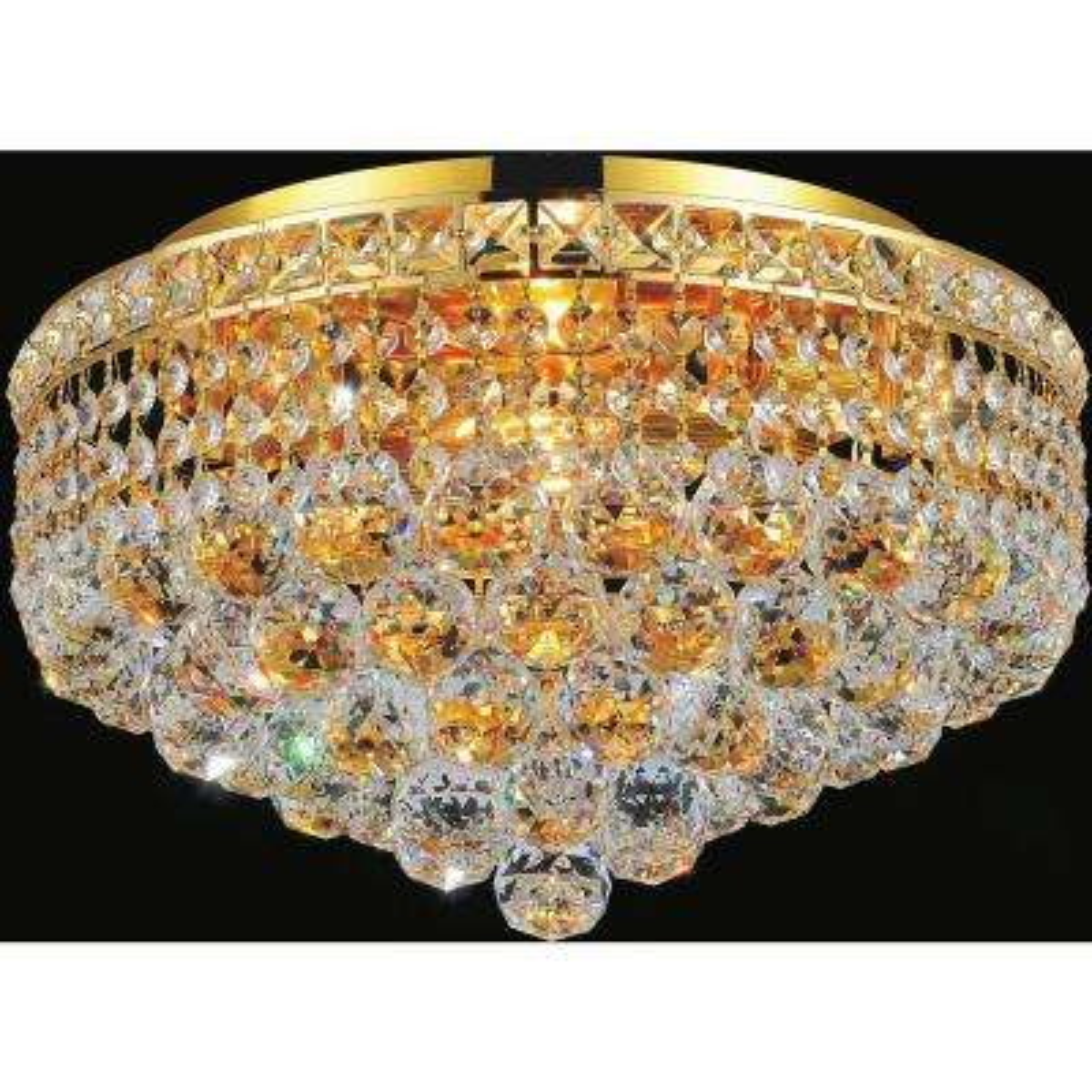 Luminous 4-Light Gold Flushmount