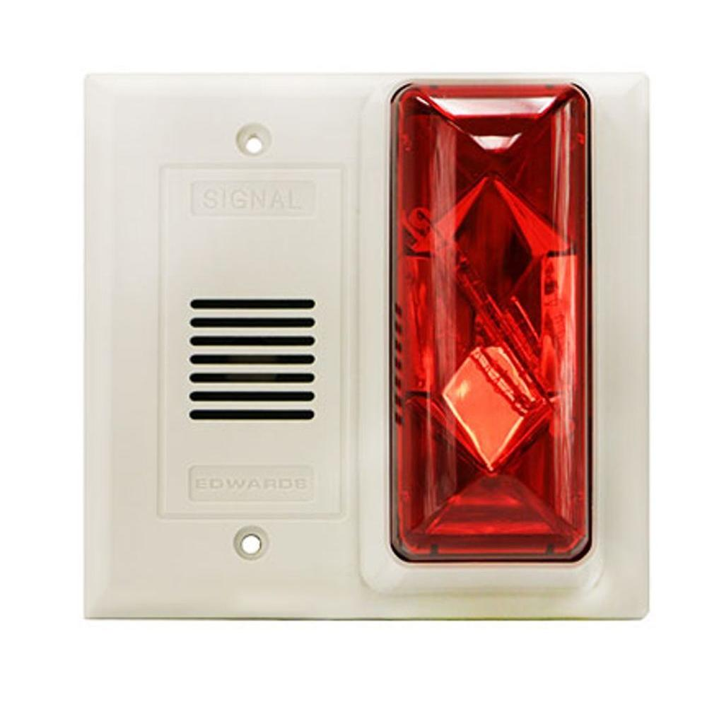 Edwards Signaling Buzzer/Strobe with Red Lens
