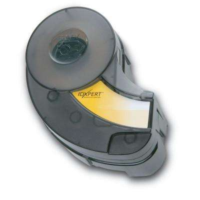 IDXPERT B-595 19 in. W x 1.5 in. H In/Outdoor Vinyl Black/Yellow Film Labels 1 Roll (30 ft.)/Cartridge