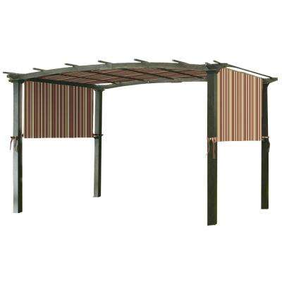 Universal Replacement Canopy Top Cover in Stripe Canyon for Metal Pergola Frame
